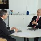 Draghi und Waigel im Gespräch (Foto: Stefan Groß/Weimer Media Group)